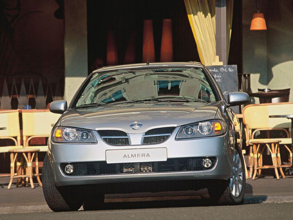 Выберите модель Nissan Almera.