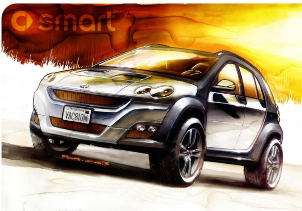 Smart formore official sketch - Smart SUV - plany na rok 2016