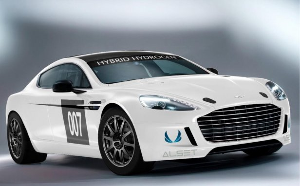 Aston Martin Hybrid Hydrogen Rapide S - Aston Martin Hybrid Hydrogen Rapide S wkracza na Ring