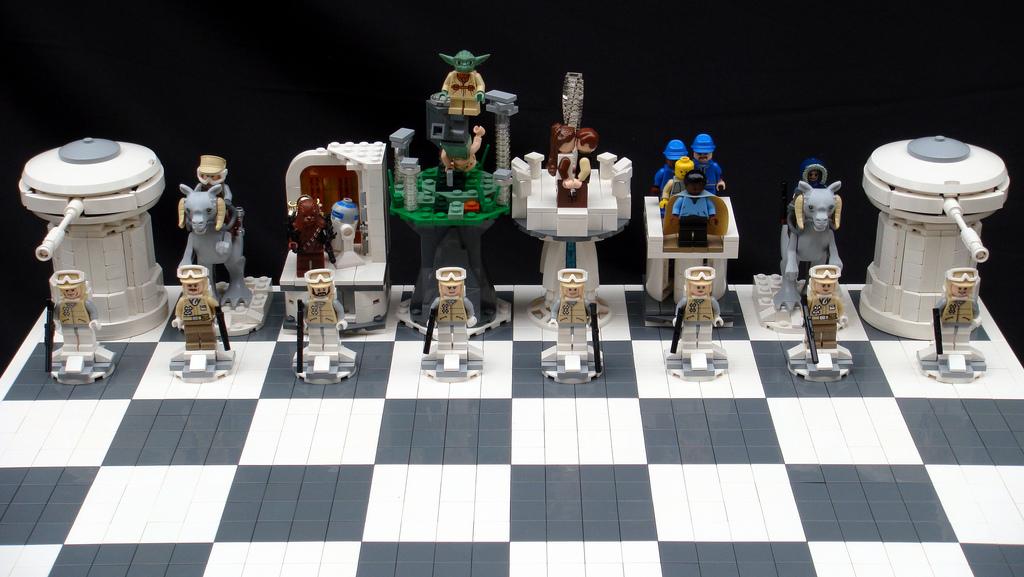 Lego szachów i gwiezdnych wojen oczywiście szachy lego star wars