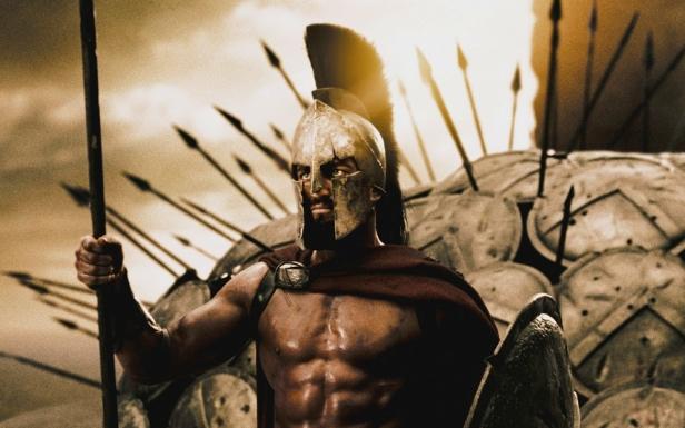 "Kadr wfilmu ""300 Spartan"""