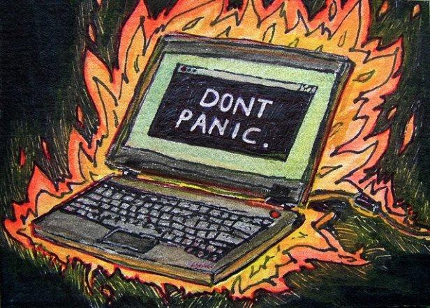 Nie panikuj, totylko awaria... (fot. nalic. CC; Flickr.com/by Sarabbit)