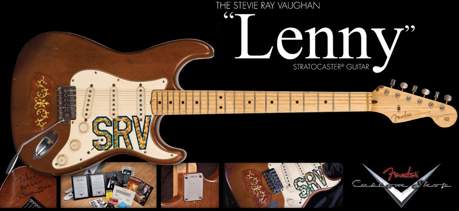 Fender Custom Shop Stevie Ray Vaughan Lenny Tribute Stratocaster Electric Guitar Slynny
