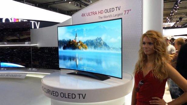 lgoled - Gadżetomania na IFA 2013: największy na świecie, zakrzywiony telewizor LG OLED TV 4K [wideo]