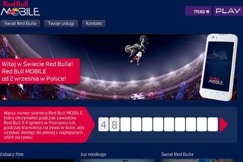 Strona nowego operatora (RedBullMobile.pl)