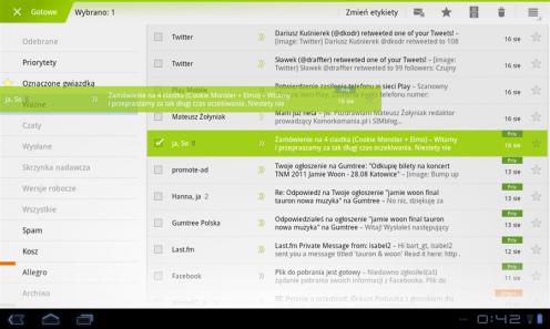 LG Swift Tab - Gmail | wł.