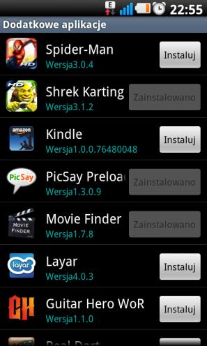 LG Swift UI ? dodatkowe aplikacje
