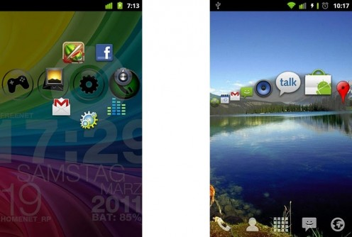 Circle Launcher i Wave Launcher | fot. Android Market