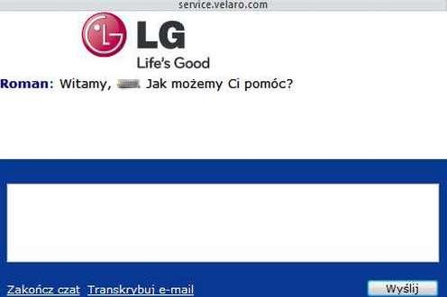 Czat LG - szybka pomoc online