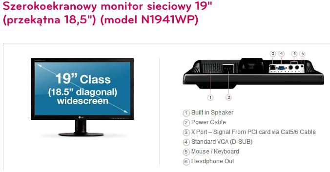 Monitor LG N1941WP (Fot. LG)
