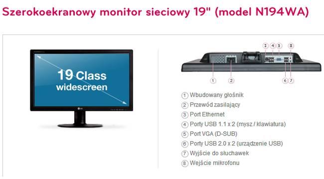 Monitor LG N194WA (Fot. LG)