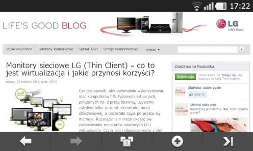 Prada 3.0 by LG - przeglądarka internetowa