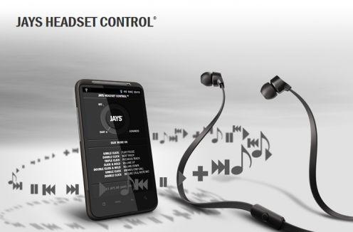 Słuchawki dla telefonów zAndroidem firmy Jays zaplikację Headset Control