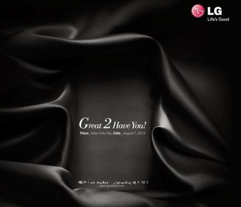 Zaproszenie naprezentację LG G2