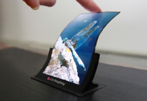 Giętki ekran firmy LG do smartfonów
