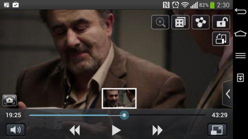 LG G Flex - odtwarzacz filmów