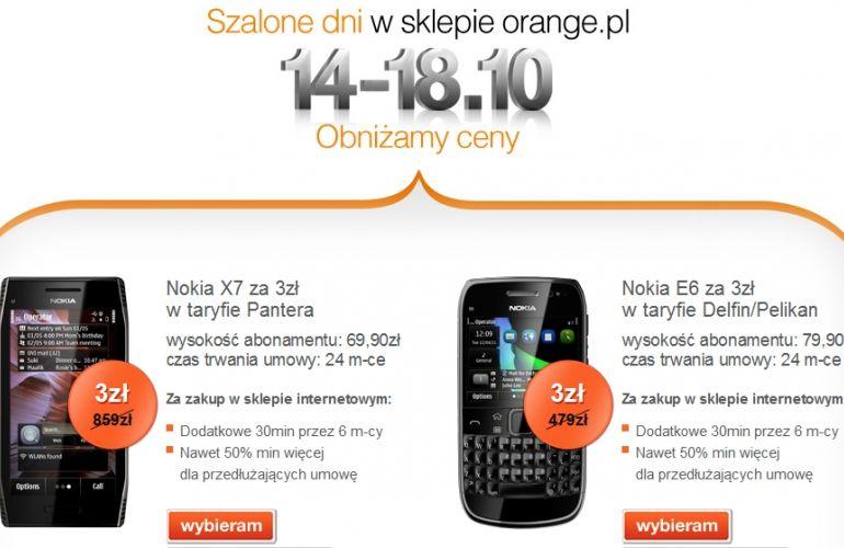 Fot. Orange.pl - Wyjątkowa promocja na telefony Nokia wOrange