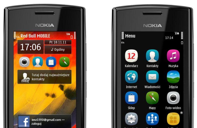Ekran główny, menu - Nokia 500 ? test [cz. 2]