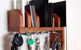 1-744 - Półka na portfele i klucze z palety – część 1