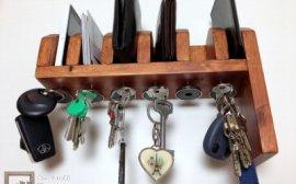 34-775 - Półka na portfele i klucze z palety - część 2