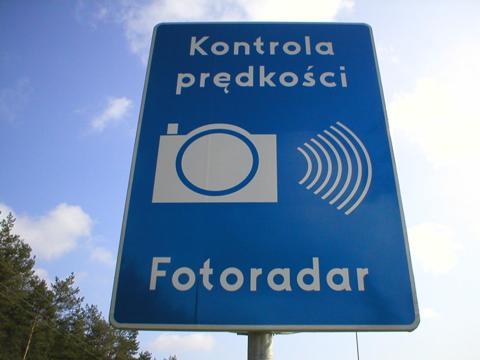 Znak informujący okontroli prędkości